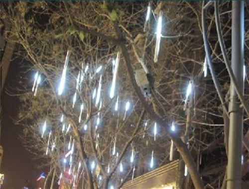 white color 20cm 96-LED Meteor Shower Rain 8