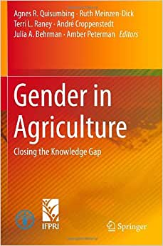 Gender In Agriculture: Closing The Knowledge Gap