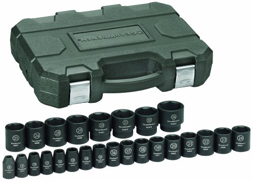 GearWrench 84933 1/2-Inch Drive Impact Socket Set Metric, 25-Piece