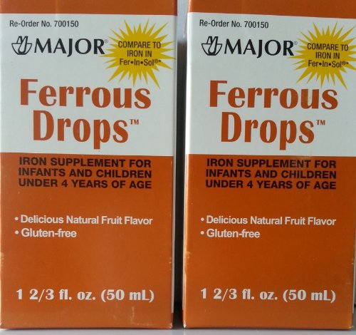 [2 Pack1 Ferrous Dropstm 15Mg/1Ml Iron Supplement For Infants And Toddlers (50Ml) *Compare To The Same Active Ingredients Found In Enfamil® Fer-In-Sol® & Save!!*