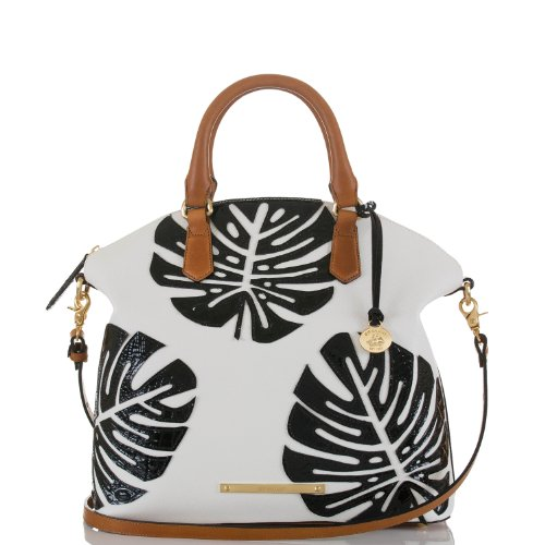 Large Duxbury Satchel<br>White Monaco