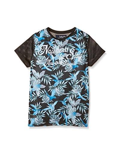 American People T-Shirt Manica Corta Talbote J [Nero/Blu]