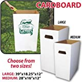 Reusable, Recyclable and Disposable Trash Cans, Sturdy Cardboard - (50) Large Size - SET of 50