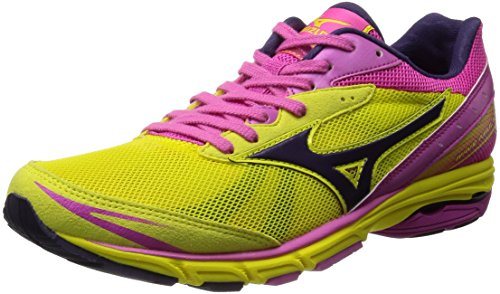 [ミズノ] Mizuno WAVE AMULET 5 [WOMEN'S] J1GB1481 69 (イエロー×パープル/255)