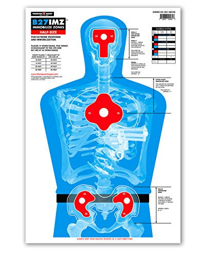 B27-IMZ Half-Size Silhouette - Paper Gun Range Shooting Targets 12.5x19 Inches (25 pack) (Fbi Target compare prices)