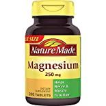 Nature Made Magnesium, 250 mg, Tablets, Value Size, 200 tablets