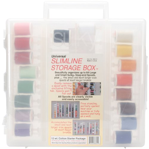 Sulky Slimline Starter Assorted Thread Set, Cotton, Size 12 (Sulky Slimline Storage Box compare prices)
