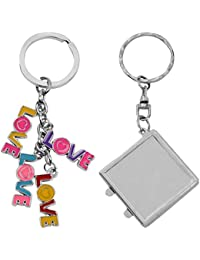 Atul's Gallery Multicolor And Silver Keychain (Pack Of 2) - B01FX8BJ4E