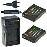 ChiliPower DMW-BCM13, DMW-BCM13E, DMW-BCM13PP Kit; 2x Batterie (1250mAh) + Chargeur pour Panasonic Lumix DMC-TS5, DMC-TZ37, DMC-TZ40, DMC-TZ41, DMC-ZS27, DMC-ZS30, DMC-FT5