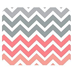Grey Vs Pink Chevron Zigzag Pattern Unique Custom Mouse Pad Mousepad