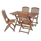 Sienna Garden Furniture Rectangular Set For 4 with Wooden Chairs