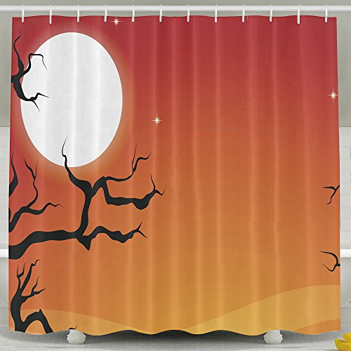 [BVBOO Halloween Shower Curtain Farm House Decor, Path Through Dark Deep In Forest With Fog Creepy Twisted Branches Picture Polyester Fabric Bathroom Set,60x72inch,72x72inch,72x78inch Shower] (Austin Tx Halloween Costumes)