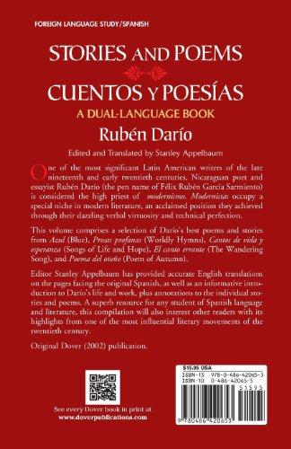 Stories and Poems/Cuentos y Poesías: A Dual-Language Book (Dover Dual Language Spanish)