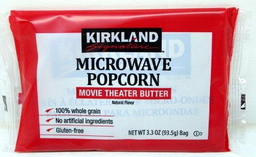 Kirkland Microwave Popcorn 3.3 Ounce Bags - 8 Bags