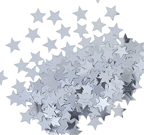 Best Review Of Metallic Star Confetti, Silver