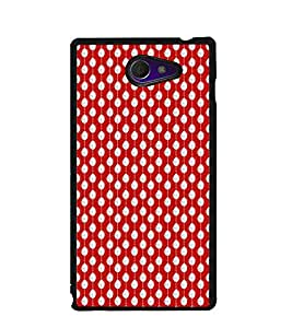 Fuson Premium I Love Red Metal Printed with Hard Plastic Back Case Cover for Sony Xperia M2