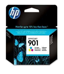 HP 901 (CC656AN, CC656AN#140) Tri-Color OEM Genuine Inkjet/Ink Cartridge (360 Yield) - Retail