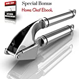 70% OFF TODAY - Propresser Garlic Press Stainless Steel - Mince Garlic with the Best Garlic Press - Go Without Garlic Peeler or Garlic Chopper - Premium Quality Garlic Crusher - Garlic Mincer and Ginger Press