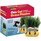 Chia Cat Grass Planter Snoozy Kitty