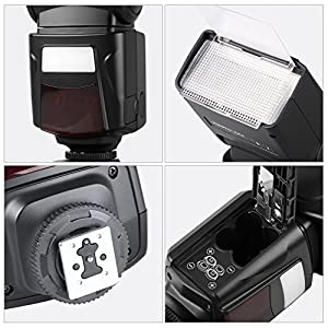 Photoolex M500 Flash Speedlite for Canon Nikon Sony Panasonic Olympus Fujifilm Pentax Sigma Minolta Leica and Other SLR Digital SLR Film SLR Cameras and Digital Cameras with single-contact Hot Shoe