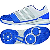 Adidas Men's Adipower Stabil 11 Indoor Shoes-White/Silver Metallic/Bright Royal