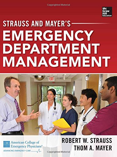 Strauss And Mayer'S Emergency Department Management front-982747