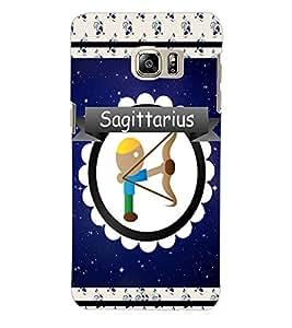 ColourCraft Zodiac Sagittarius Back Case Cover for SAMSUNG GALAXY NOTE 5 EDGE