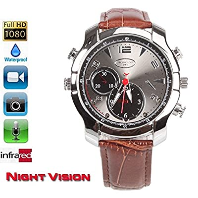 16G HD 1080P IR Night Vision Waterproof Watch Nanny Camera Video Cam Record DVR
