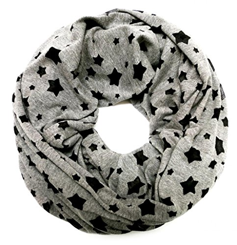 accessu-Echarpe-Foulard-pour-Femme-Jersey-with-Burnout-Star-Pattern-in-greyblack