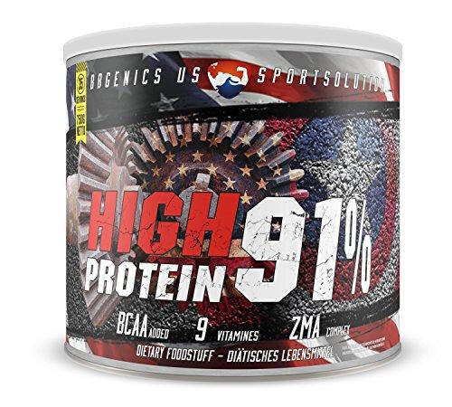Casein & Whey - maximum Eiweiß, aspartamfrei, unter 1% Fett, 1% Carbo, High Protein 91% Eiweißpulver by BBGENICS, 750g Vanille