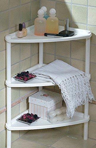 3 Tier Corner Triangular Table, Shelf Stand, Italian (White) (Bathroom Table White compare prices)