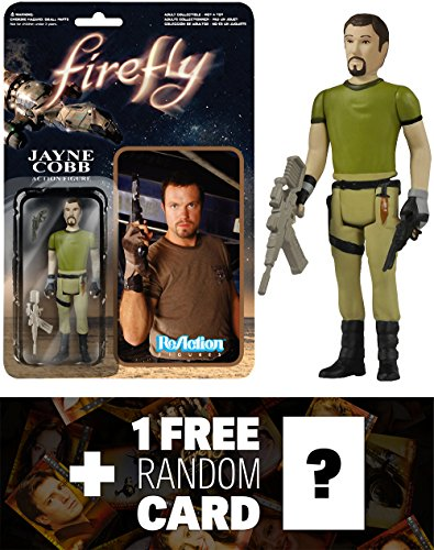 Jayne Cobb: Funko ReAction x Firefly Action Figure + 1 FREE Official Firefly Trading Card Bundle (038601)