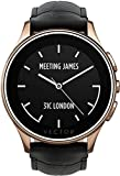 Vector Watch Smartwatch for - Rose Gold Case with Black Leather Strap