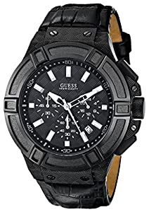 GUESS Men's U0408G1 Rigor Black Multi-Function Watch