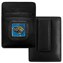 Jacksonville Jaguars Leather Money Clip/Cardholder