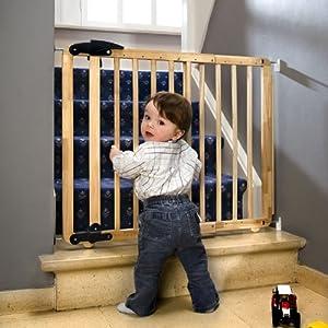 Barrera de seguridad Nina 69.5-104cm, de madera en BebeHogar.com