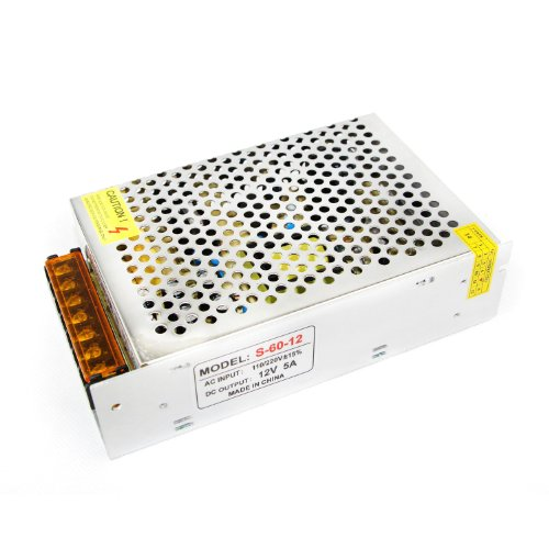 E-Age Non Waterproof 60 Watt, Led Driver Power Supply 12 Volt 5Amp Dc Output.