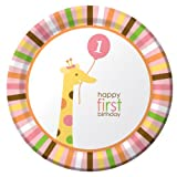 Creative Converting Sweet 1st Birthday Girl Plates  Lunch