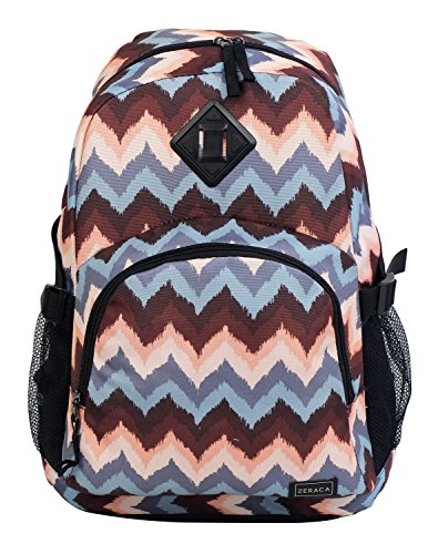 Zeraca Great Deals Large Student Backpacks School Book Bags (Blue Wave)