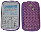 For Samsung Ch@t 335 T335 S3350 Diamond Patterned Protective Silicone Gel Case Cover Pouch TPU. (Lavender Purple)