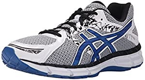 ASICS Men's GEL Excite 3 Running Shoe, White/Snorkel Blue/Black, 8 M US