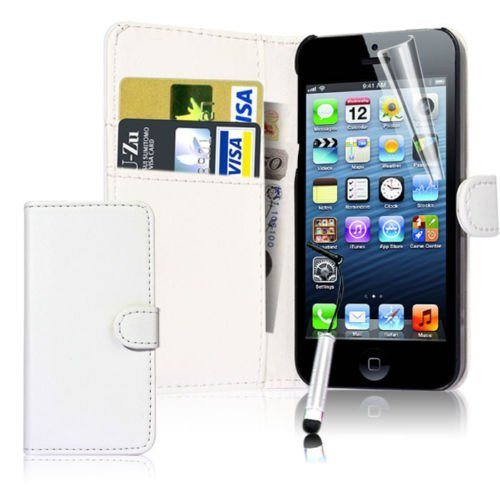 connect-zoner-ipod-touch-6-6th-gen-white-pu-leather-flip-wallet-case-cover-pouch-with-screen-protect