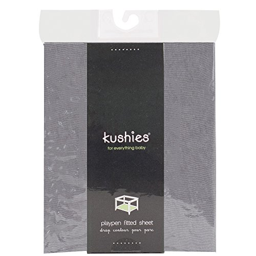 Kushies Baby Percale Fitted Play Pen Sheet, Grey