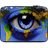 Snoogg World Map Around An Eye 2847 13 To 13.6 Inch Laptop Netbook Notebook Slipcase Sleeve