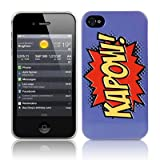 iPhone 4S / iPhone 4 Comic Capers KAPOWPurple/Orange/Yellow Hard Back Cover Case / Shell / Shieldby CallCandy