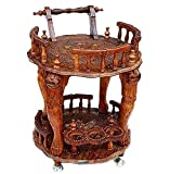 Aarsun Handcrafted Wooden Service Trolley by Aarsun Woods