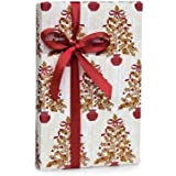 Elegant HOLLY BERRY TREES Christmas Holiday Gift Wrap Paper - 16 Foot Roll