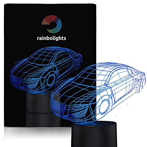 Novelty Gift Night Light SuperCar 7 Color LED Does Not Get Hot By rainbolights a Great Gift Idea for the boys or Dad (Gift Ideas 6 Year Old Boy compare prices)