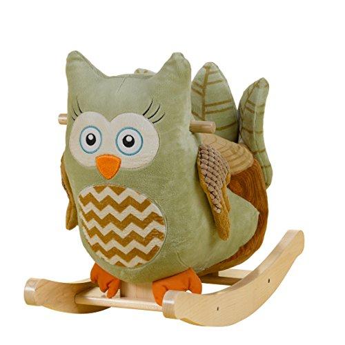 Rockabye Owliver Green Owl Rocker, One Size - 1