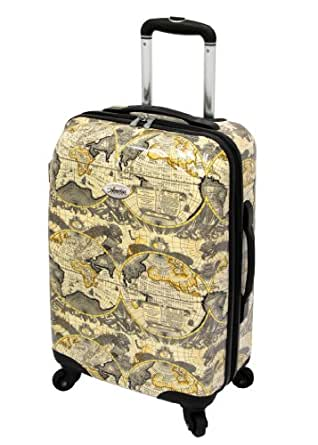 Amelia Earhart Luggage Explorer 360 Collection 20-Inch Expandable Hard Side Upright, Grey, One Size